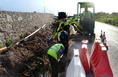 Sewage system extension and upgrading project